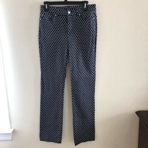 Charter Club patterned jeans, size 4